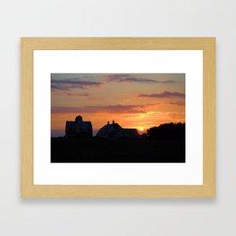 End Of Day Framed Art Print
