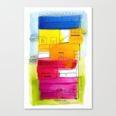 Rainbow High Rise Canvas Print