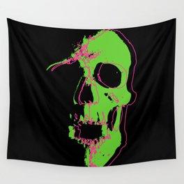 Skull - Neon Wall Tapestry