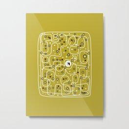 Seguridad [Gold] Metal Print
