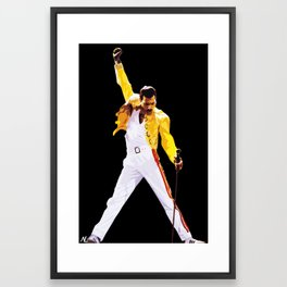 Mercury Illustration Rock and Roll Music Icon Queen Pop Art Home Decor Framed Art Print