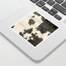 Black & White Cow Hide Sticker