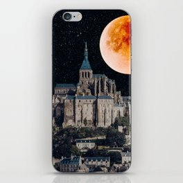 Blood Moon Over Mont-Saint-Michel iPhone Skin