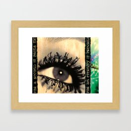 Coming To Framed Art Print