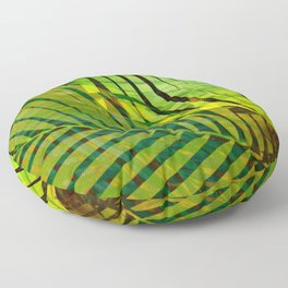 TROPICAL GREENERY LEAVES no1 Floor Pillow
