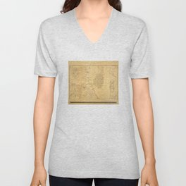 Vintage Map of Alexandria VA (1864) Unisex V-Neck