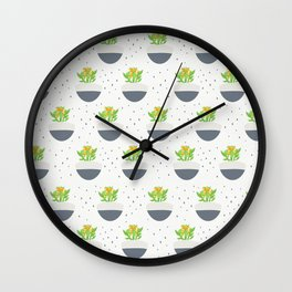 Potted Kalanchoe Plant Mom Pattern Wall Clock