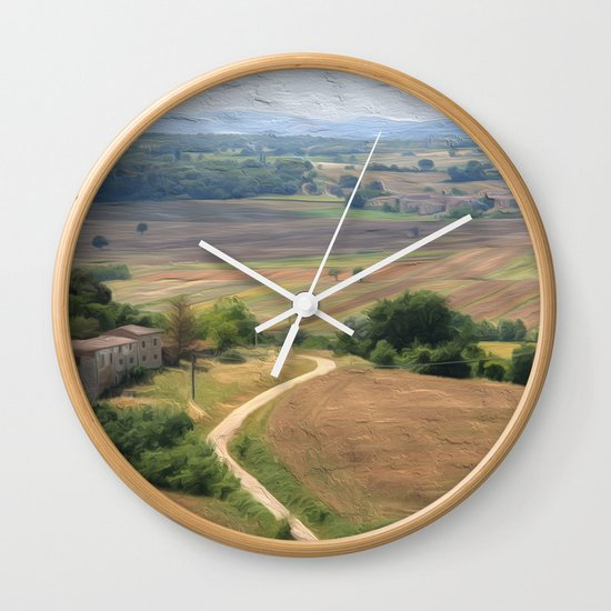 Tuscan Vista Wall Clock