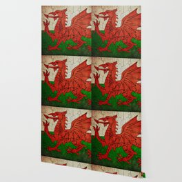 Vintage Wales flag Wallpaper