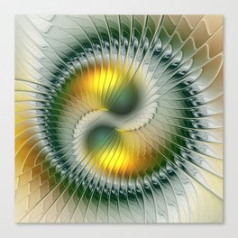 Like Yin and Yang, Abstract Fractal Art Canvas Print