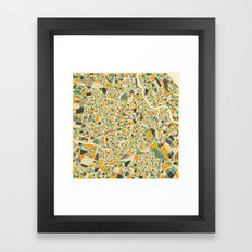 Vienna Map Framed Art Print