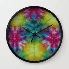 Luminous Rainbow Shibori Wall Clock