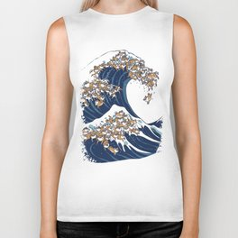 The Great Wave of Shiba Inu Biker Tank