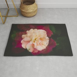 Roses (double exposure) Rug