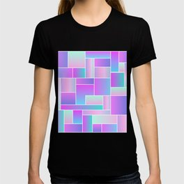 Abstract Holographic Pastel Pattern T-shirt
