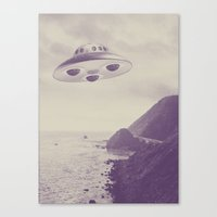 ufo Canvas Prints featuring UFO by Grafiskanstalt