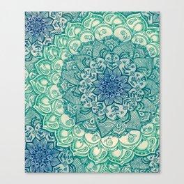 Emerald Doodle Canvas Print