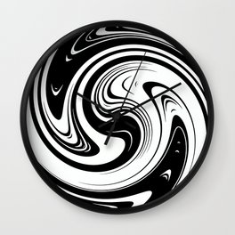 Black And White Spiral Swirl Wall Clock