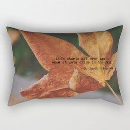 Autumn leaf by Giada Ciotola Rectangular Pillow