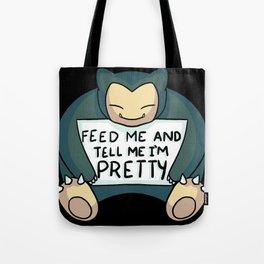 Feed Me Snrlx Tote Bag