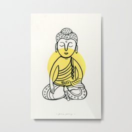 Yellow Buddha Metal Print