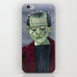 Frankenstein's monster hides in my garage iPhone Skin