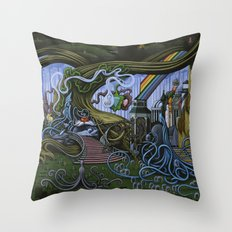 Existing Only In The Light Throw Pillow