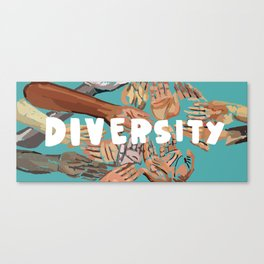 7 Banned Words: Diversity Canvas Print
