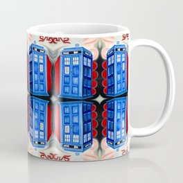 British Blue Police Public Call Box - Mirror 16 Coffee Mug
