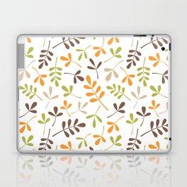 Assorted Leaf Silhouettes Ptn Retro Colors Laptop & iPad Skin