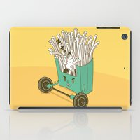 fries iPad Cases featuring French fries by BIGMOUTH