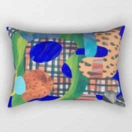 Blue Hat Rectangular Pillow
