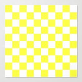 Cheerful Yellow Checkerboard Pattern Canvas Print