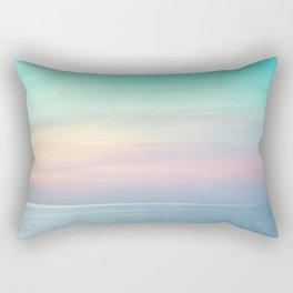 Pastel retro Malibu VII calm ocean & sky Rectangular Pillow