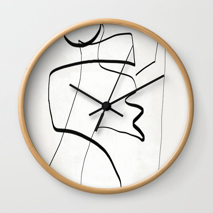 Abstract line art 6 Wall Clock