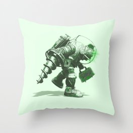 Daddy's Coming Home (Green) Throw Pillow
