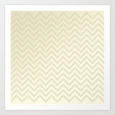 Delicate ivory chevrons Art Print