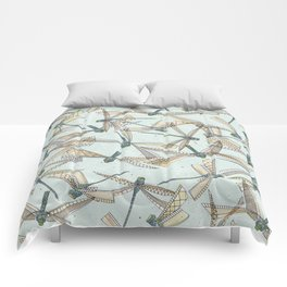 watercolor dragonflies Comforters