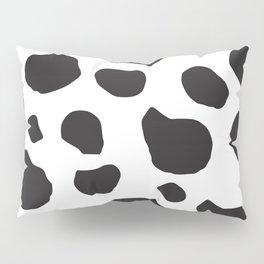 Animal Print (Cow Print), Cow Spots - White Black Pillow Sham
