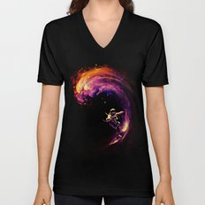 Space Surfing Unisex V-Neck