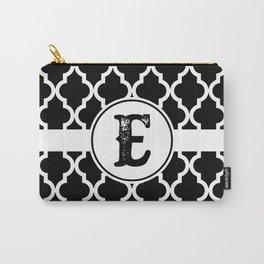 Black Monogram: Letter E Carry-All Pouch