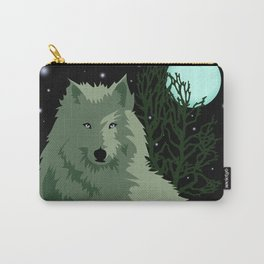 Wolf Vector Animals Carry-All Pouch