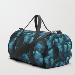 blue black abstract spherical shapes Duffle Bag