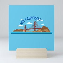 CITY BY THE BAY Mini Art Print