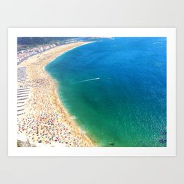 Nazare beach in Portugal Art Print