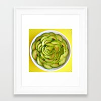 avocado Framed Art Prints featuring Avocado by Hector Wong