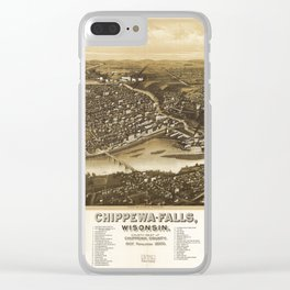 Aerial View of Chippewa Falls, Wisonsin (1907) Clear iPhone Case