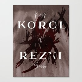 King Of Scars Canvas Print