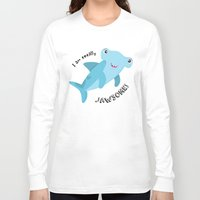 shark Long Sleeve T-shirts featuring Shark by Michelle McCammon
