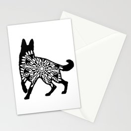 German Shepherd Mandala Stationery Cards